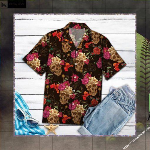 Amazing Skull Hawaiian Shirt - Short