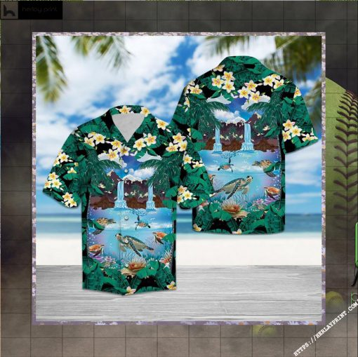 Awesome Turtle Hawaiian Shirt Short