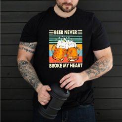 Beer Never Broke My Heart Vintage Drinking Beer Lover Classic shirt