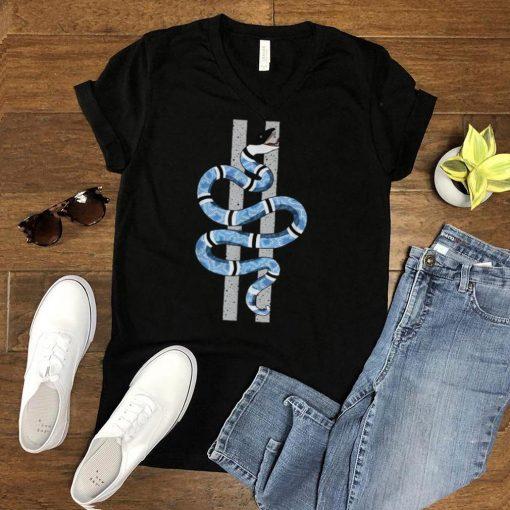 Blue Snake Graphic Tee Match Jordan 4 University Blue T Shirt