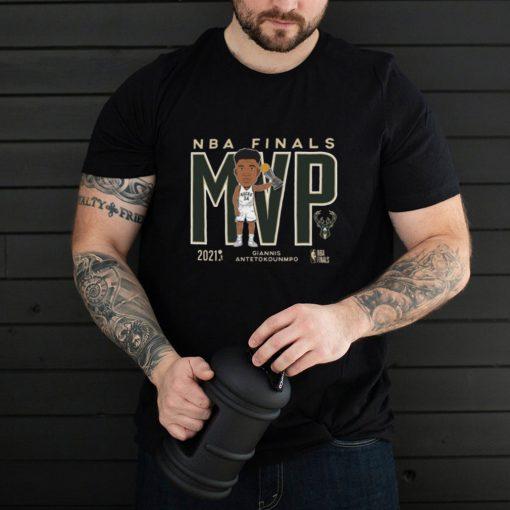 Brand 2021 NBA Champions Giannis MVP Milwaukee Bucks shirt