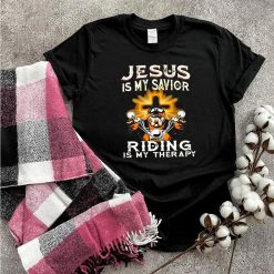 Bulldog Jesus Is My Savior Riding Is My Therapy shirt