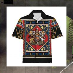 Coat of Arms Yellow Lion Hawaiian Shirt