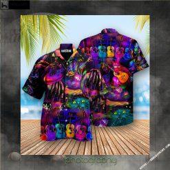 Music My Cats And I Play Guitars We Destroy Silent Edition - Hawaiian Shirt