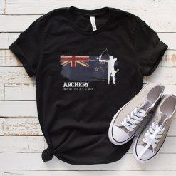 New Zealand Archery Team Sports New Zealand Flag Bow Arrow shirt