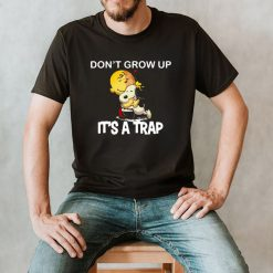Peanuts Charlie Brown Hugging Snoopy Woodstock Don't Grow Up It's A Trap T shirt (4)
