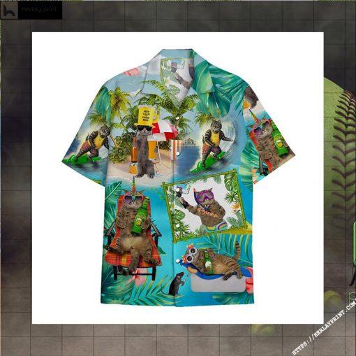 Pirates Cat Beer hawaiian shirt 2