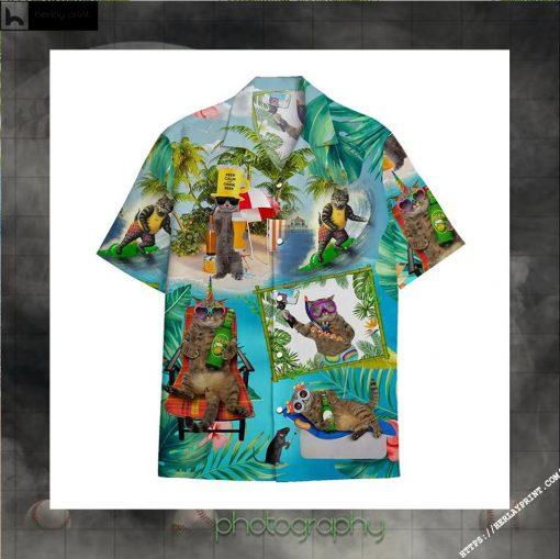 Pirates Cat Beer hawaiian shirt
