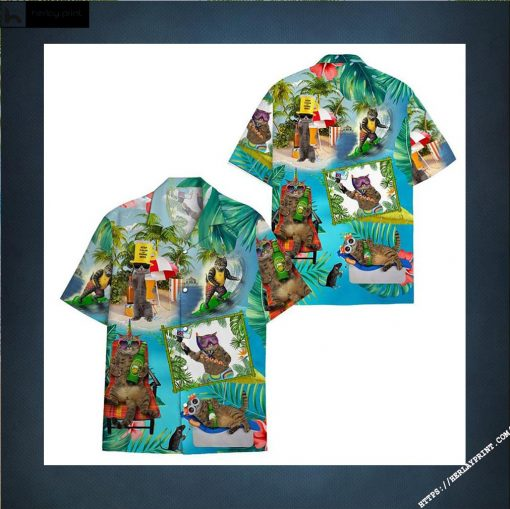 Pirates Cat Beer hawaiian shirts