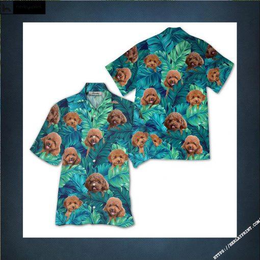 Poodle Hawaiian Shirts