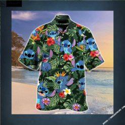Stitch And Lilo Art Hawaiian shirt, Stitch Hawaiian Shirt