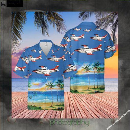 US Navy North American T 2C Buckeye Hawaiian Shirt LIMITED EDITION