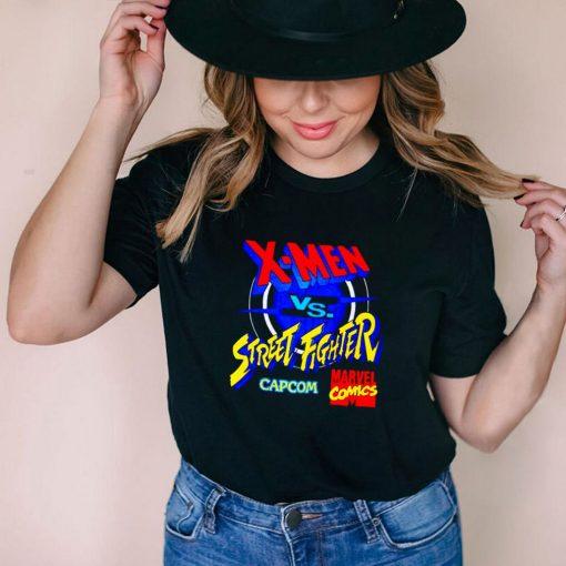 X Men vs Street Fighter Marvel Comics shirt