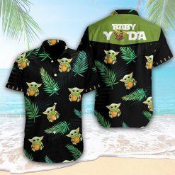Yoda Pineapple Hawaiian Aloha shirt, Yoda Lover Shirt