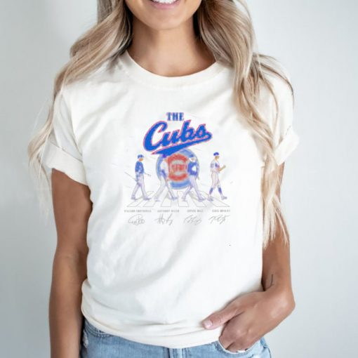 Abbey road the cubs signatures shirt