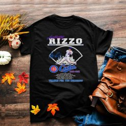 Anthony rizzo cubs thanks for the memories signature shirt
