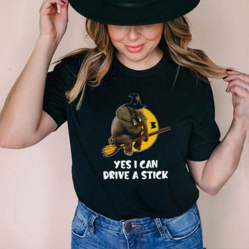 Elephant Yes I Can Drive A Stick Halloween T shirt