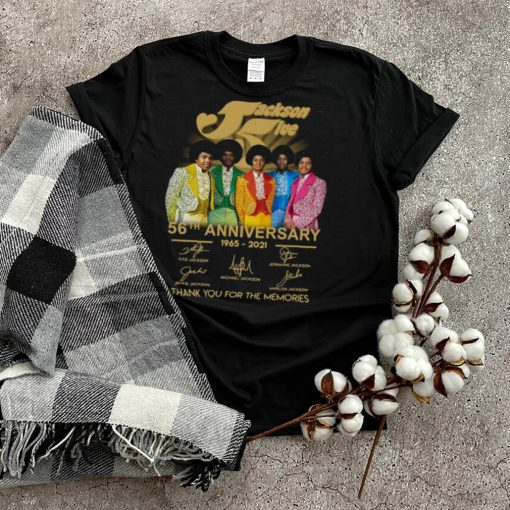 Jackson Five members 56th anniversary 1965 2021 thank you for the memories signatures shirt