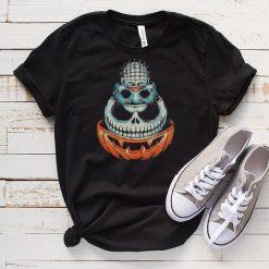 Pinhead Jason Voorhees Jack Skeleton and Pumpkin Halloween shirt