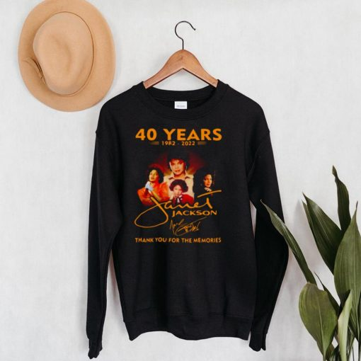 40 Years 1982 2022 Jackson Thank You For The Memories T shirt