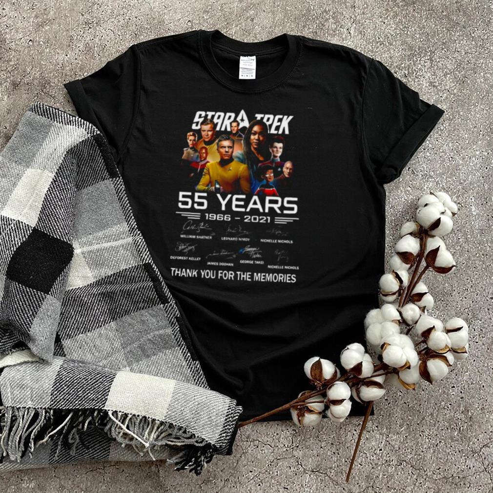 55 Years 1966 2021 Star Trek Signature Thank You For The Memories T shirt
