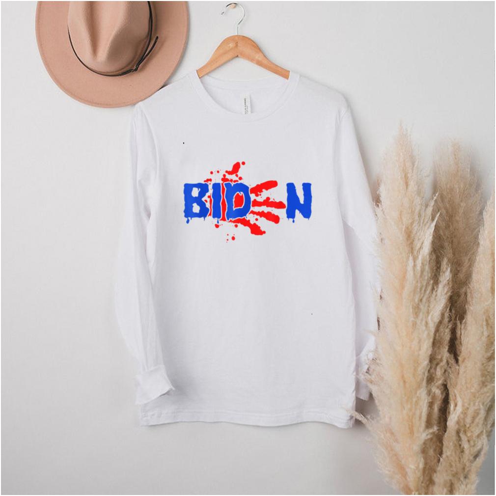 Blood On His Hands Biden Bring Trump Back Trending Novelty T Shirt