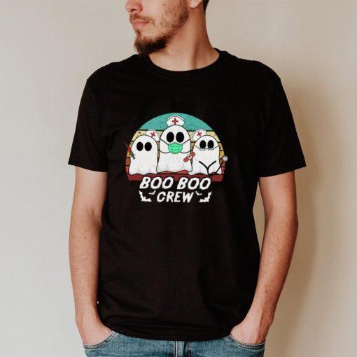 Boo Boo Crew Funny Nurse Halloween Ghost Costume RN Vintage Long Sleeve T Shirt