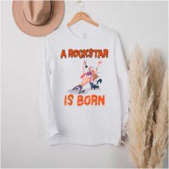 Born to be a Rockstar A Rockstar is born funny music Metal T Shirt