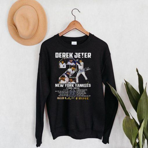 Derek Jeter New York Yankees 1995 – 2014 Hall Of Fame Signature Shirt