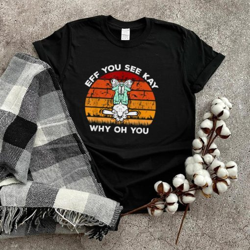 EFF You See Kay Why Oh You Frog Yoga Vintage T Shirt