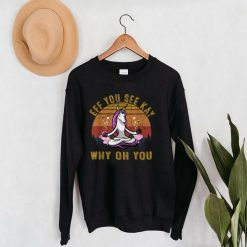 Eff You See Kay Why Oh You Unicorn Retro Vintage T Shirt