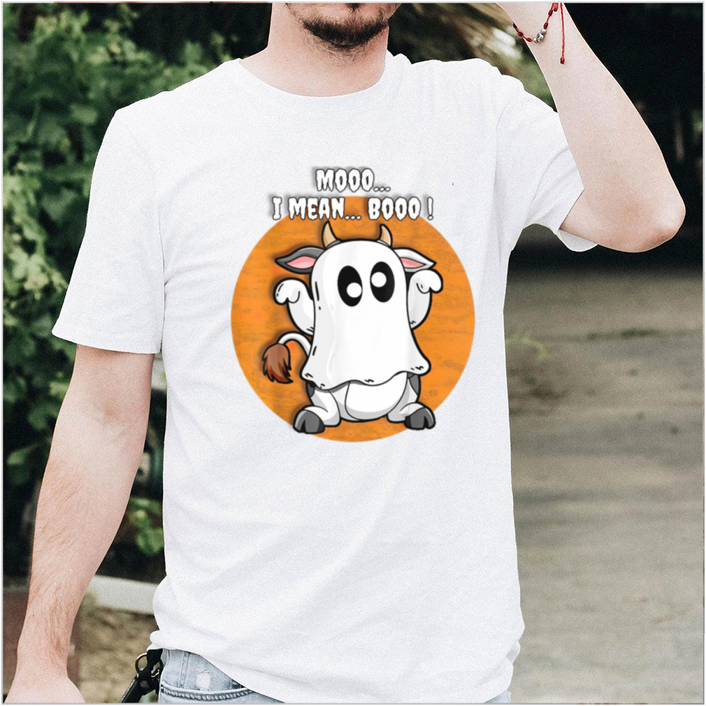 Ghost Cow Moo I Mean Boo Pumpkin T Shirt