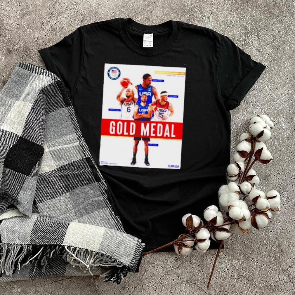 Gold Meadal Basketball Team USA shirt