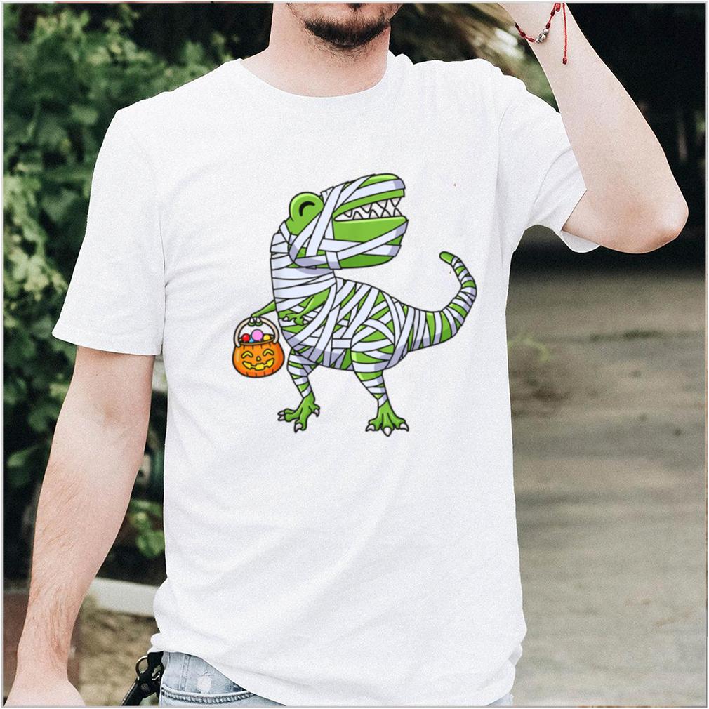 Halloween Dinosaur Mummy Pumpkin Boys Girls Kids Cute T Rex T Shirt