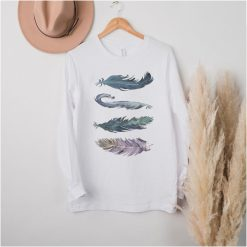 Indigenous Heritage Jewel Tone Feathers Native American T Shirt