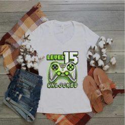 Level 15 Unlocked Video Game 15th Birthday Gamer Boys T Shirt