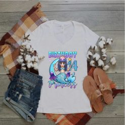 Mermaid Birthday Girl 14 Years Old Mermaid 14th Birthday T Shirt