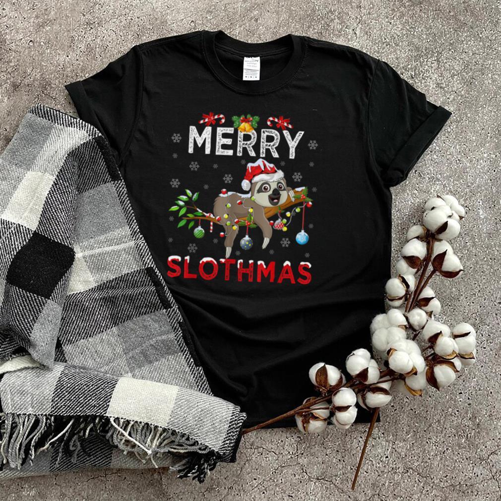 Merry Slothmas Christmas Funny Pajama For Sloth Lovers T Shirt