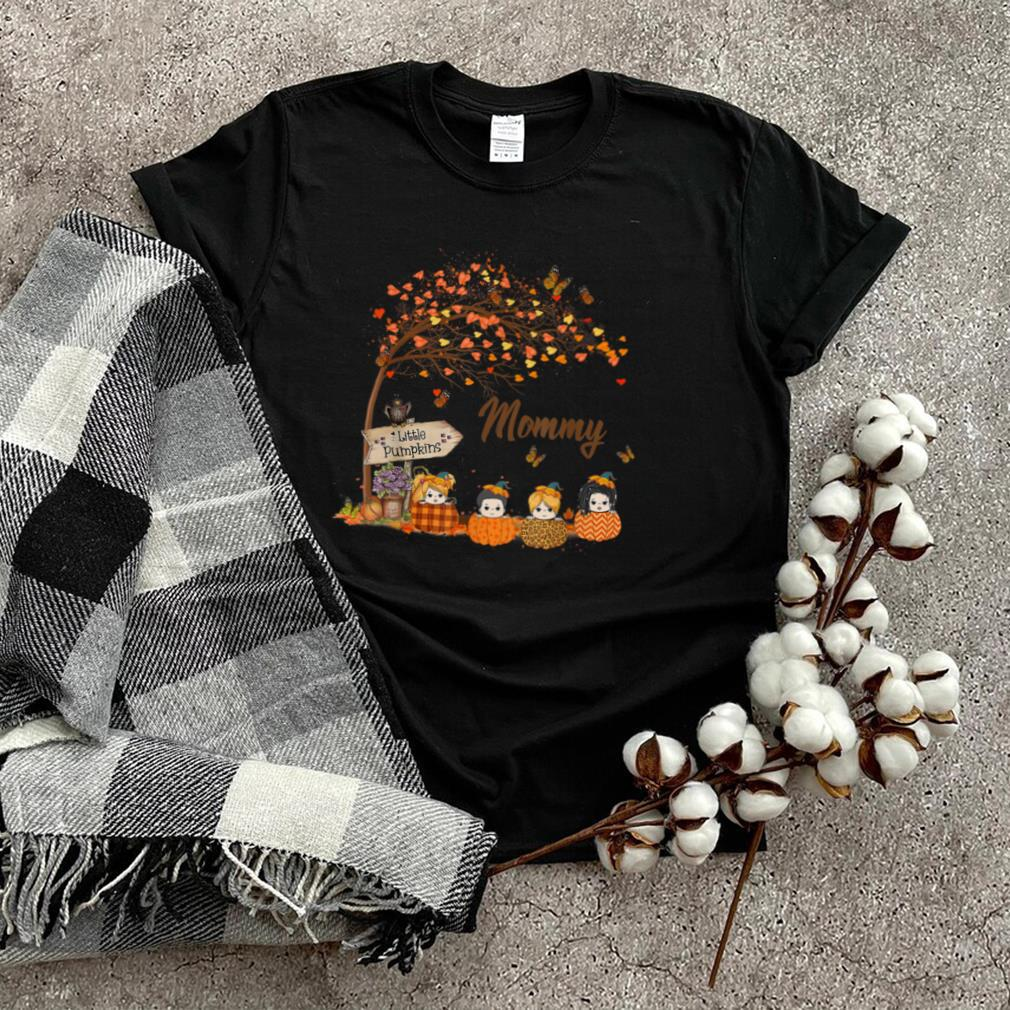 Mommy Little Pumpkins Autumn Tree Leaves   Fall Gifts T Shirt