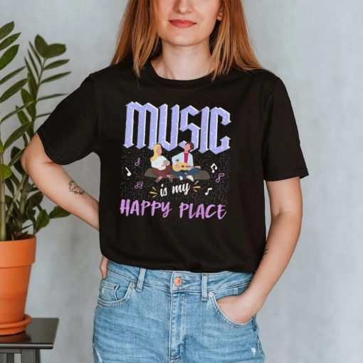Music Is My Happy Place Inspiring Music Novelty T Shirt