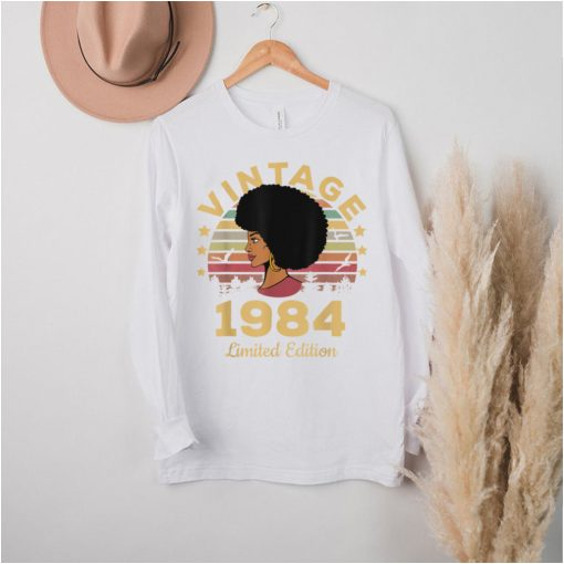 Vintage 1984 Made In 1984 37th Birthday Women 37 Years T Shirt