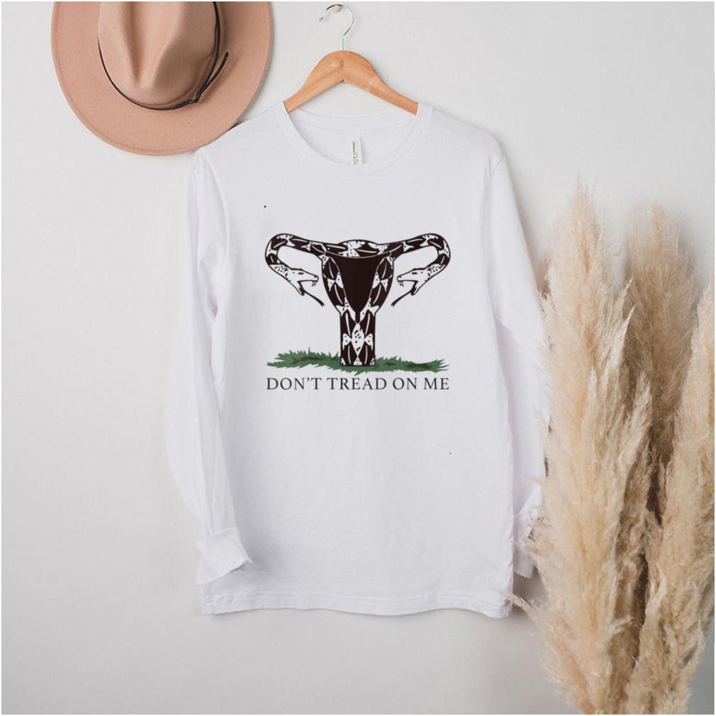 Womens Don't tread on me uterus V Neck T Shirt