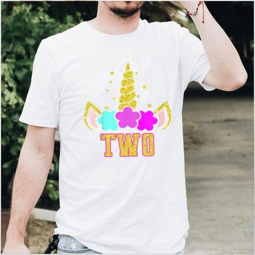 Kids Gift for 2 Year Old Girl Unicorn 2nd Birthday Girls T Shirt