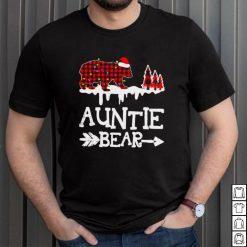 Auntie Bear Shirt Red Buffalo Plaid Auntie Bear Pajama Shirt