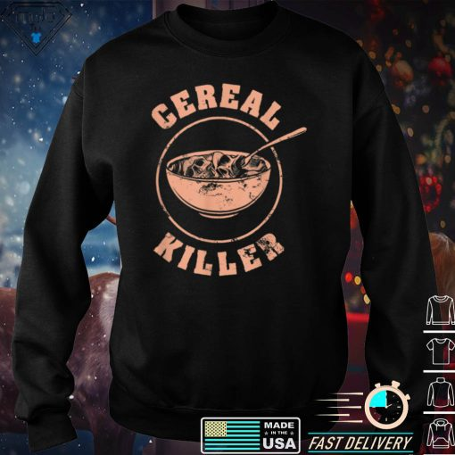 Cereal Killer Halloween Night Spooky Breakfast Milk Cereals T Shirt