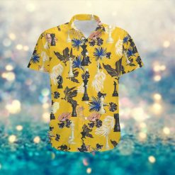 Chess Pieces Men Aloha Hawaiian Tropical Floral Button Up Shirt For Chess Players And Sport Lovers On Summer Vacation