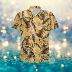 Disc Golf Retro Vintage Style Custom Name Men Hawaiian Aloha Tropical Floral Button Up Shirt For Disc Golfers In Summer