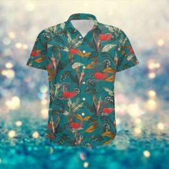 Disc Golf Sporty Men Hawaiian Aloha Tropical Floral Custom Name Shirt For Disc Golfers On Summer Vacation