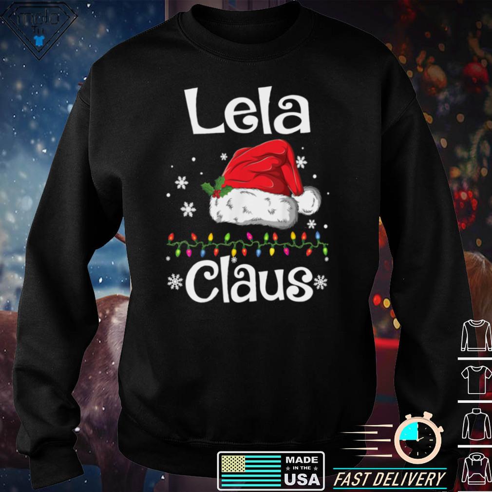 Funny Santa Lela Claus Christmas Matching Family Long Sleeve T Shirt