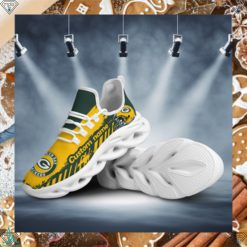 Green Bay Packers American NFL Football Team Helmet Logo Custom Name Personalized Men And Women Max Soul Sneakers Shoes For Fan